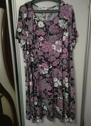 Красивое платье, стройнит, размер 58-62