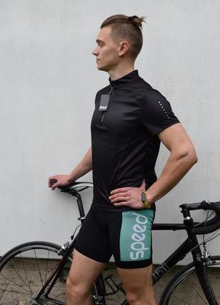 Вело костюм комбинезон форма велосипедная мужская м l crivit лосины шорты