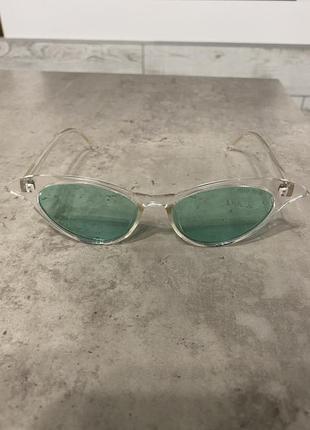 Очки с бирюзовыми стёклами