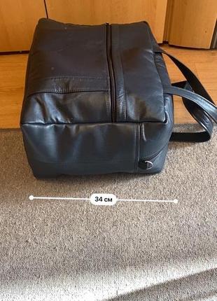 Дорожная кожаная сумка ручной работы9 фото