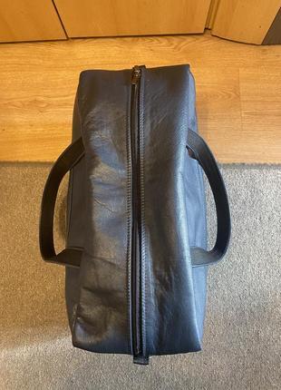 Дорожная кожаная сумка ручной работы5 фото