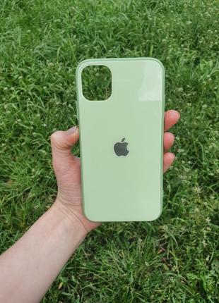 Чехол стеклянный чехол для айфон  iphone 11