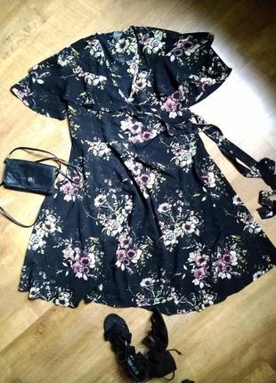 Платье-халат, платье на запах, next, размер 8-10