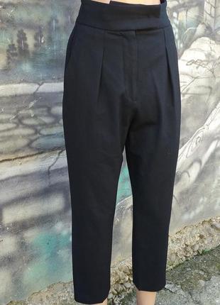Дизайнерские штаны,высокая посадка,защипы,sara battaglia