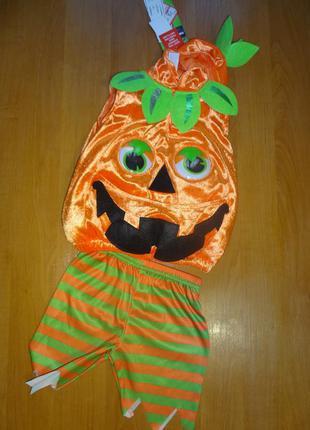 Костюм тыквы на 0-3  мес (будет дольше). фирма tu. карнавальный костюм на хэллоуин.