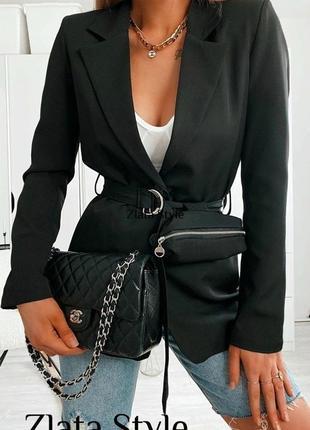 Пиджак с поясом и сумочкой распродажа!