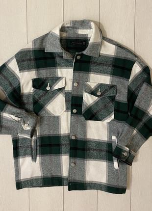 Рубашка  пальто в клетку dilvin