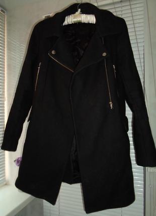 Стильное пальто - косуха zara