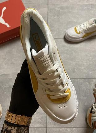 Женские кроссовки puma select cali sport white yellow.8 фото