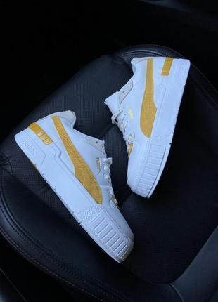 Женские кроссовки puma select cali sport white yellow.2 фото