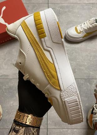 Женские кроссовки puma select cali sport white yellow.7 фото