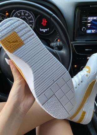 Женские кроссовки puma select cali sport white yellow.10 фото