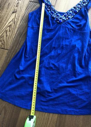 Синий летний топ майка ультрамарин индиго сапфир7 фото