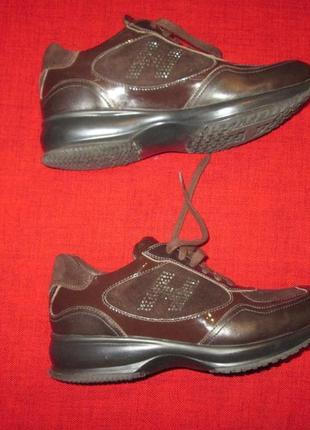 Кожаные кроссовки hogan италия
