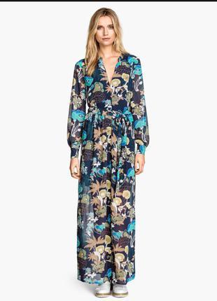 Шифоновое платье макси длинное в пол