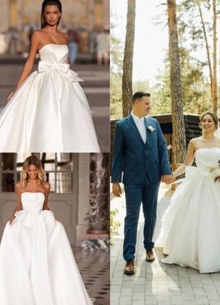 Свадебное платье и фата от дорогого итальянского бренда milla nova.