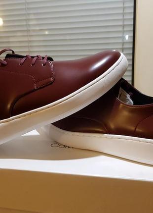 Calvin klein оригинал 45 ст. 29,5 см. новые кожаные туфли