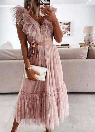 Шикарное воздушное платье, люкс качество стамбул.