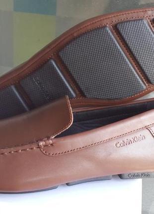 Calvin klein оригинал 44 ( по стельке 29 см.)новые   кожаные туфли
