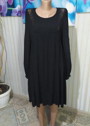 Шикарное платье вискоза прошва свободный крой mango
