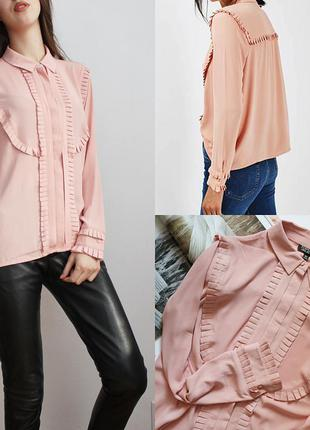 Трендовая блуза с рюшами от topshop