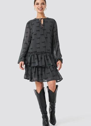 Платье na-kd размер 38 (м) черное