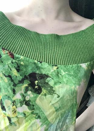 Легчайшее шёлковое зелёное платье летнее винтаж 90-е