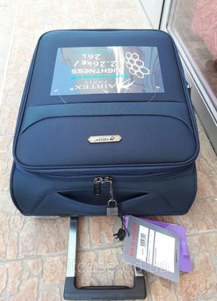 Ультра легкий тканевый чемодан под ручную кладь на 4-х кол. airtex 822 france6 фото