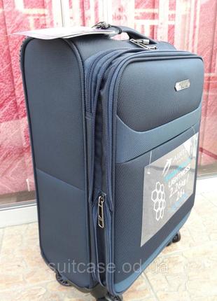 Ультра легкий тканевый чемодан под ручную кладь на 4-х кол. airtex 822 france2 фото