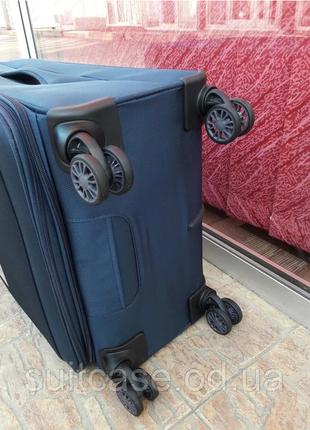 Ультра легкий тканевый чемодан под ручную кладь на 4-х кол. airtex 822 france3 фото