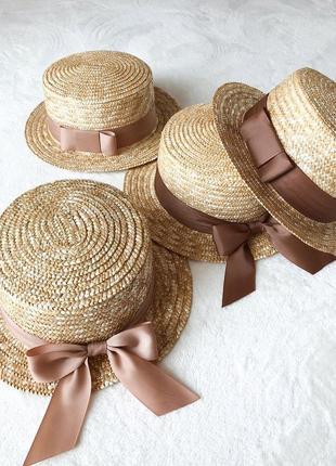 Канотье соломенная шляпа из соломки капелюх