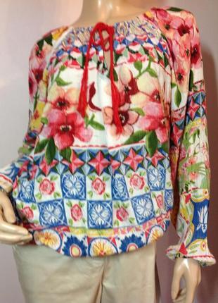Фирменная вискозная блузка /m/ brend desigual