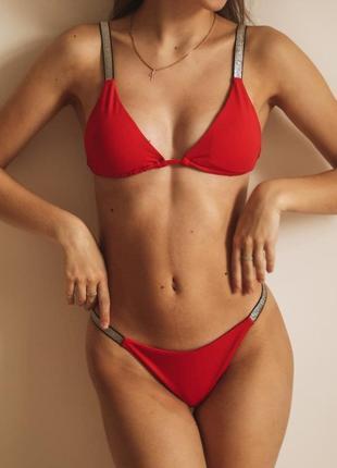 ❤️ раздельный купальник в ярко красном цвете❤️