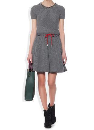 Теплое, вязаное платье из шерсти