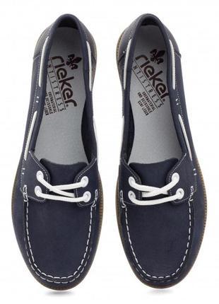 Туфли мокасины топсайдеры кожаные rieker