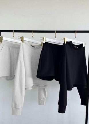 Костюм oversize (кофта+шорты)🤩👍