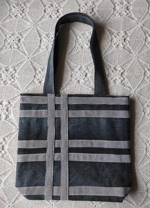 Джинсова сумка, сіра