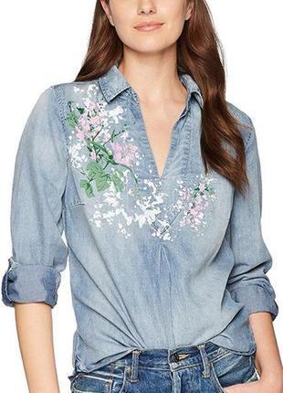 Чумовая джинсовая рубашка. лиоцелл. сша. оригинал. р укр 44-50