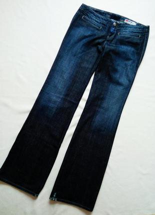 Трендовые джинсы gas широкие калоши, низкая посадка