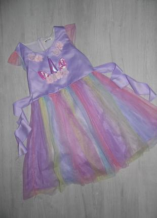 Платье единорога на рост 150