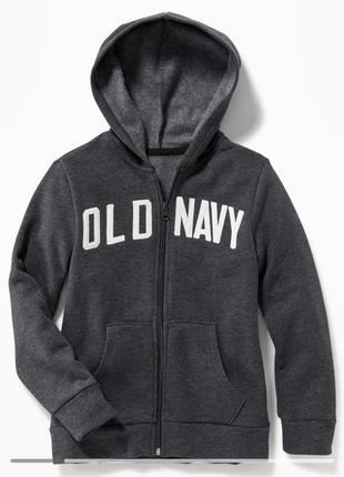 Худи, толстовка, кофта на молнии с капюшоном old navy для мальчика
