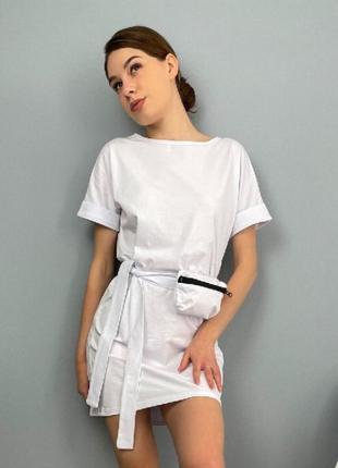 Женское летнее платье с сумочкой на поясе
