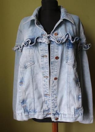 Джинсовая куртка с рюшами simply be denim