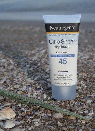 Neutrogena ultra sheer spf 45 солнцезащитный крем для лица и тела безмасляный