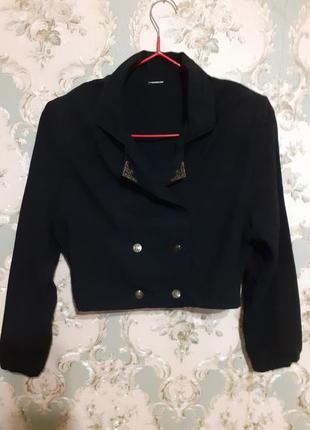Жакет пиджак черного цвета