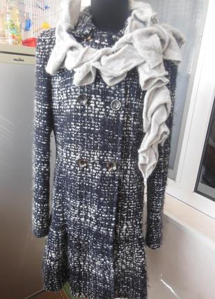 Пальто из натуральной шерсти maxmara, осень, весна