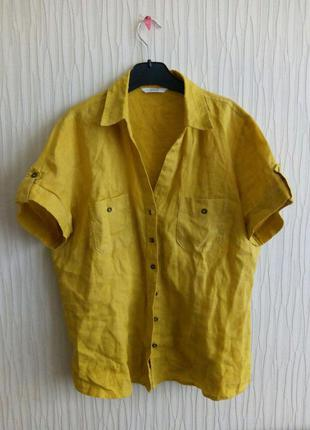 Рубашка льняная marks&spenser
