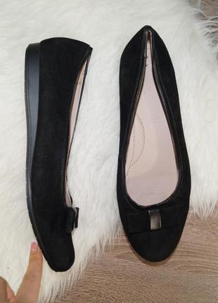 (41р./27см) footglove! замша! фирменные базовые туфли с милым бантом