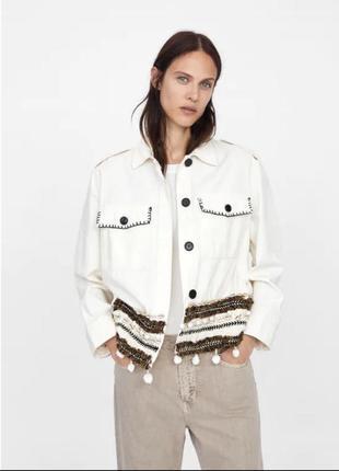 Джинсовая куртка джинсовая zara