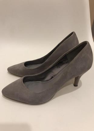 Туфли серые под замш h&m